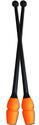 PASTORELLI 45,20 cm CONNECTABLE BICOLOUR BLACK-ORANGE Clubs mod. MASHA F.I.G. Approved Rhythmic  Clubs Pastorelli Sport Rhythmic Gymnastics