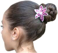 hair clips with elements made of sequins Rhythmic  Cosmetics  Pastorelli Sport Rhythmic Gymnastics