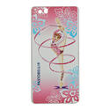 HUAWEY P8 LITE cover with RIBBON on PINK background Rhythmic  Gadgets Pastorelli Sport Rhythmic Gymnastics
