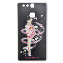 HUAWEY P9 cover with RIBBON on BLACK blackground Rhythmic  Gadgets Pastorelli Sport Rhythmic Gymnastics