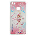 HUAWEY P9 LITE cover with RIBBON on PINK background Rhythmic  Gadgets Pastorelli Sport Rhythmic Gymnastics