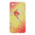 I-PHONE 4 cover with ROPE on YELLOW background  Rhythmic  Gadgets Pastorelli Sport Rhythmic Gymnastics