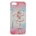 I-PHONE 5 cover with RIBBON on PINK background Rhythmic  Gadgets Pastorelli Sport Rhythmic Gymnastics