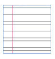 "PASTORELLI ""Stefy with ribbon"" ruled with margin exercise book - primary school (OB)  Rhythmic  PASTORELLI Stationery Line Pastorelli Sport Rhythmic Gymnastics"