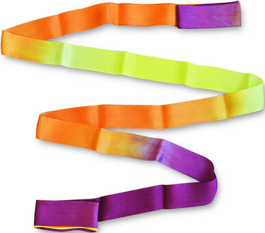 PASTORELLI SHADED ribbon 6 m Violet-Orange-Yellow Rhythmic   Pastorelli Sport Rhythmic Gymnastics