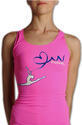 RACERBACK TANK WITH PRINTED RIBBON Rhythmic  PASTORELLI  Fashion Pastorelli Sport Rhythmic Gymnastics