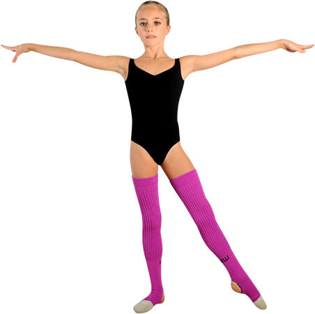 Horney gymnast girl in leg warmers the life